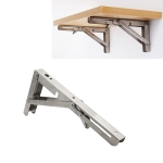 14 inch Billy Wall-mounted Foldable Stainless Steel Spring Storage Shelf for Dining Table