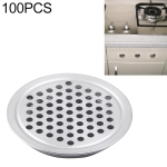100 PCS 25mm Flat Surface Cabinet Round Air Vent Stainless Steel Louvered Grille Cover Vents with Little Holes