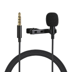 PULUZ 1.5m 3.5mm Jack Lavalier Wired Condenser Recording Microphone