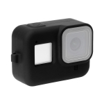 PULUZ Silicone Protective Case Cover with Wrist Strap for GoPro HERO8 Black (Black)