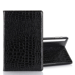 For Galaxy Tab S6 T860 / T865 Crocodile Texture Horizontal Flip Leather Case with Holder & Card Slots & Wallet (Black)