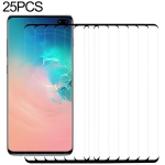 25 PCS 9H 2.5D Premium Curved Screen Crystal Tempered Glass Film for Galaxy S10 Plus, Lessen Version