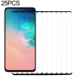 25 PCS 9H 2.5D Premium Curved Screen Crystal Tempered Glass Film for Galaxy S10, Lessen Version