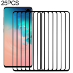 25 PCS 9H 2.5D Premium Curved Screen Crystal Tempered Glass Film for Galaxy S10 Plus