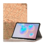 For Galaxy Tab S6 T860 / T865 Map Texture Horizontal Flip Leather Case with Holder & Card Slots & Wallet, Random Texture Delivery