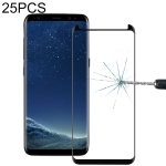25 PCS For Galaxy S8 Plus / G955 0.26mm 9H Surface Hardness 3D Explosion-proof Non-full Screen Curved Fully Adhesive Case Friendly Tempered Glass Film (Black)