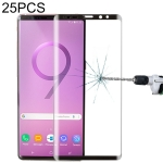 25 PCS 0.26mm 9H Surface Hardness 3D Curved Edge Full Screen Tempered Glass Film for Galaxy Note 9