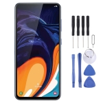 Original PLS TFT Material LCD Screen and Digitizer Full Assembly for Galaxy A60