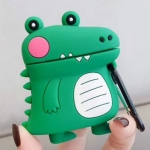 For Apple AirPods 1/2 Generation Universal Wireless Cute Dinosaur Bluetooth Headphone Protective Case(Green)