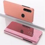 For Xiaomi Redmi Note 8 Plating Mirror Horizontal Flip Leather Case with Bracket Holster(Rose Gold)