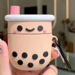 For Apple AirPods 1/2 Generation Universal Pearl Milk Tea Bluetooth Headphone Protective Case