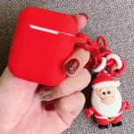 For Apple AirPods 1/2 Generation Universal Christmas Series Pendants Bluetooth Headphone Protective Case(Red)