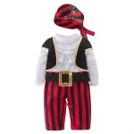 Male Baby Spring And Autumn Halloween Costume Pirate Captain Cute One-piece Suit, Size:100 Yards