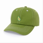 Adjustable Fruit Embroidery Cotton Pattern Baseball Cap for Men / Women, Size:56-60cm(Green )