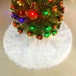 2 PCS Christmas Plush Christmas Tree Bottom Decoration Tree Skirt, Size:78x78cm
