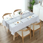 Printinging Coffee Dining Table Cloth PVC Waterproof Oilproof Anti-scalding Tablecloth, Size:120x120cm Square Table(Hello White)