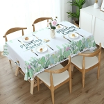 Printinging Coffee Dining Table Cloth PVC Waterproof Oilproof Anti-scalding Tablecloth, Size:140x140cm Square Table(Cactus)