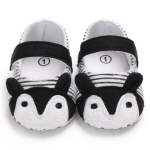 Baby Shoes Fox Striped Cute Baby Infant Girls Anti-slip Soft Sole Crib Shoes, Size:12cm(Black)