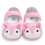 Baby Shoes Fox Striped Cute Baby Infant Girls Anti-slip Soft Sole Crib Shoes, Size:12cm(Pink)