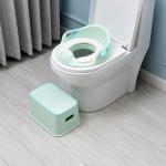 3 PCS Children Plastic Multi-Functional Portable Bathroom Hand Washing Anti-Skid Footstool Toilet Seat Stool(Green )