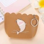 3 PCS Girl Heart Ins Wallet Short Cutel Simple Coin Purse for Women( Khaki)