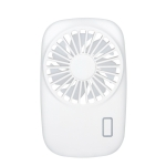 Portable Hand Held USB Rechargeable Mini Fan(White)