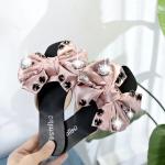 Rivet Casual Flats Bottom Women Slippers, Shoe Size:36(Pink)