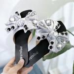 Rivet Casual Flats Bottom Women Slippers, Shoe Size:38(Gray)