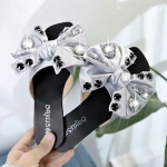 Rivet Casual Flats Bottom Women Slippers, Shoe Size:39(Gray)