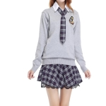 College Student Uniforms Suit, Size:M(As Show)