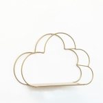 Cloud-shaped Wall Decorative Wall Hanging Decorative Wall Decoration Without Nails(Bronze)