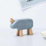 Resin Crafts Animal Ornaments Living Room Cabinets Work Surface Decoration(Rhinoceros )