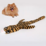 Pet Plush Puzzle Bite-resistant Teeth Vocal Dog Toy(Tiger )