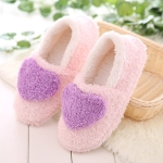 Women Love Pattern Home Cotton Shoes, Shoe Size:36-37(Purple)