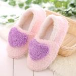 Women Love Pattern Home Cotton Shoes, Shoe Size:38-39(Purple)
