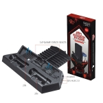 KJH PS4-26 3 in 1 Universal Fan Cooling Base Bracket Mmulti-function Stand for PS4 / Pro / Slim Game Console