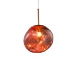 Rose Gold 25cm Creative Modern Bedroom Bedside Restaurant Cafe Bar Lava Chandelier with 5W White Light LED