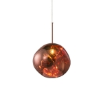 Rose Gold 40cm Creative Modern Bedroom Bedside Restaurant Cafe Bar Lava Chandelier with 7W Three-Color Light LED