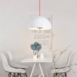 40cm Restaurant Bar Chandelier Living Room Simple Bedroom Bedside Study Chandelier with 12W Warm Light LED(White)
