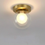 A   Simple Walkway Copper Lamp Single Head Corridor Hall Porch Ceiling Lights without Light Source