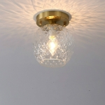E  Simple Walkway Copper Lamp Single Head Corridor Hall Porch Ceiling Lights with Three-Color Light LED
