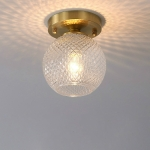 F  Simple Walkway Copper Lamp Single Head Corridor Hall Porch Ceiling Lights with Warm Light LED