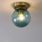 G  Simple Walkway Copper Lamp Single Head Corridor Hall Porch Ceiling Lights without Light Source
