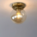 J   Simple Walkway Copper Lamp Single Head Corridor Hall Porch Ceiling Lights without Light Source