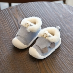 Winter Infant Toddler Boots Warm Plush Baby Snow Boots Outdoor Soft Bottom Boots, Shoes Size:15(Blue)
