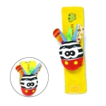 Wrist Rattle Baby Cartoon Education Bell Toy,Random Style Delivery