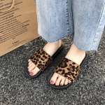 Women Fashion Non-slip Leopard Slippers, Shoe Size:37(Leopard)