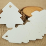 2 Packs Christmas Party Decoration Paper Card Gift Tag Wedding Gift DIY Kraft Christmas Tag(White)