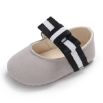 Girls Crib Shoes Cute Princess Dress Bowknot Newborn Baby Shoes, Size:12cm(Gray)