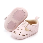 Hollow Princess Baby Girls Infantil First Walkers Anti-slip Hard sole Sneakers Baby shoes, Size:11cm(Pink)